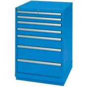 Lista® 7 Drawer Standard Width Cabinet - Blue, Keyed Alike
