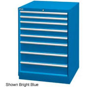 "Lista 28-1/4""W Drawer Cabinet, 8 Drawer, 124 Compart - Classic Blue, Keyed Alike"