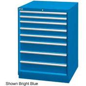 "Lista 28-1/4""W Drawer Cabinet, 8 Drawer, 124 Compart - Light Gray, Keyed Alike"