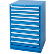 Lista® 10 Drawer Standard Width Cabinet - Bright Blue, Master Keyed