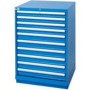 Lista® 10 Drawer Standard Width Cabinet - Blue, Individual Lock