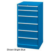 "Lista 28-1/4""W Cabinet, 6 Drawer, 37 Compart - Bright Blue, Individual Lock"