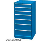 "Lista 28-1/4""W Cabinet, 7 Drawer, 62 Compart - Classic Blue, Keyed Alike"