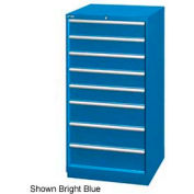 "Lista 28-1/4""W Cabinet, 8 Drawer, 95 Compart - Classic Blue, Master Keyed"