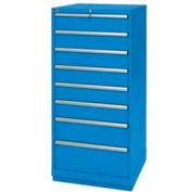 Lista® 8 Drawer Standard Width Cabinet - Bright Blue, Keyed Alike