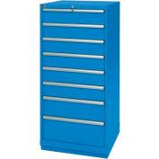 Lista® 8 Drawer Standard Width Cabinet - Bright Blue, Individual Lock