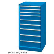 "Lista 28-1/4""W Cabinet, 9 Drawer, 111 Compart - Bright Blue, Keyed Alike"