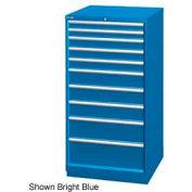 "Lista 28-1/4""W Cabinet, 10 Drawer, 161 Compart - Bright Blue, Keyed Alike"