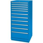 Lista® 11 Drawer Standard Width Cabinet - Bright  Blue, Individual Lock