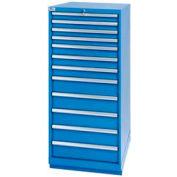Lista® 12 Drawer Standard Width Cabinet - Bright Blue, Keyed Alike