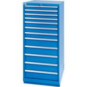 Lista® 12 Drawer Standard Width Cabinet - Bright Blue, Individual Lock