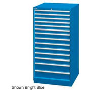 "Lista 28-1/4""W Cabinet, 14 Drawer, 282 Compart - Bright Blue, Keyed Alike"