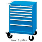 """Lista 28-1/4""""W Mobile Cabinet, 7 Drawers, 72 Compart - Light Gray, Master Keyed"""
