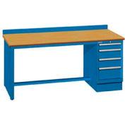 72x30x35.25 Cabinet & Leg workbench w/4 drawers, back stop/butcher block top