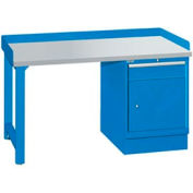 60x30x35.25 Cabinet & Leg workstation w/1 drawer, back & end stops/plastic laminate top