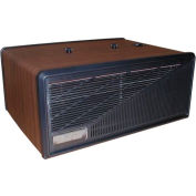 Portable Electronic Air Purifier - 110 CFM 120V - Wood with Black Trim