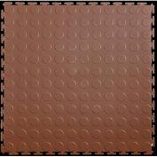 "Lock-Tile® PVC Floor Tiles, LK004, 19.5x19.5"", Coin, Brown"