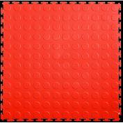 """Lock-Tile® PVC Floor Tiles, LK006, 19.5x19.5"""", Coin, Red"""