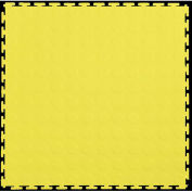 "Lock-Tile® PVC Floor Tiles, LK007, 19.5x19.5"", Coin, Yellow"