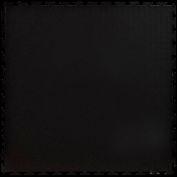"Lock-Tile® PVC Floor Tiles, SM001, 19.5x19.5"", Textured, Black"