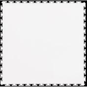 "Lock-Tile® PVC Floor Tiles, SM003, 19.5x19.5"", Textured, White"