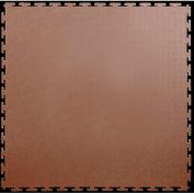 """Lock-Tile® PVC Floor Tiles, SM004, 19.5x19.5"""", Textured, Brown"""