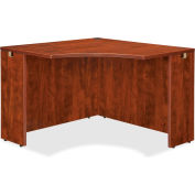 "Lorell® Corner Desk - 42""W x 24""D x 29-1/2""H - Cherry - Essentials Series"
