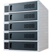 """Luxor 5-Bay Charging Locker For Mobile Devices With Up To 17"""" Screen Size"""