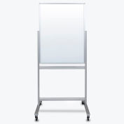 "Luxor Mobile Magnetic Glass Whiteboard - Double Sided - 30""W x 40""H"