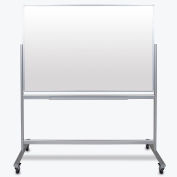 "Luxor Mobile Magnetic Glass Whiteboard - Double Sided - 60""W x 40""H"