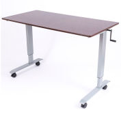 "Luxor Standup Adjustable Height Workstation Desk 59""L x 29-1/2""W x 29"" - 42-3/4""H"