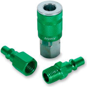 "Legacy™ Colorconnex® Type B Green Coupler & Plug Kit, 1/4"", 3Pc"