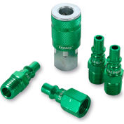 "Legacy™ Colorconnex® Type B Green Coupler & Plug Kit, 1/4"", 5Pc"
