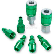 Legacy™ ColorConnex® Type B 7Pc 1/4In. Green Coupler & Plug Kit