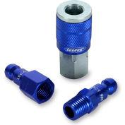 """Legacy™ Colorconnex® Type C Blue Coupler & Plug Kit, 1/4"""", 3Pc"""