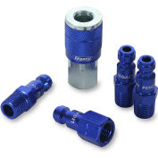 """Legacy™ Colorconnex® Type C Blue Coupler & Plug Kit, 1/4"""", 5Pc"""