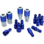 Legacy™ ColorConnex® Type C 14Pc 1/4In. Blue Coupler & Plug Kit