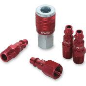 "Legacy™ Colorconnex® Type D Red Coupler & Plug Kit, 1/4"", 5Pc"