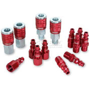 Legacy™ ColorConnex® Type D 14Pc 1/4In. Red Coupler & Plug Kit