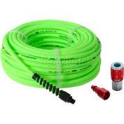 "Flexzilla® HFZP1425YW2-D 1/4""x25' 300 PSI Hybrid Polymer All Weather Air Hose W/ Coupler & Plug"