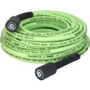 "Flexzilla® HFZPW3450M 1/4"" X 50' Pressure Washer Hose, M22 FTGs 3500psi"