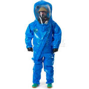 Interceptor Blue, Level A Deluxe, Rear Entry Suit, 3XL, 1/Case, Lakeland, 80650-3X