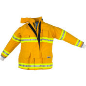 """Lakeland AT3202Y OSX Attack™ Fire Protective Turnout Gear Coat 44"""", Yellow"""