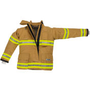 "Lakeland BA3207G OSX B2™ Battalion Fire Protective Pleated Turnout Gear Coat 42"", Gold"