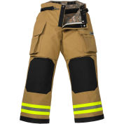 """Lakeland BP3307G OSX B2™ Battalion Fire Protective Pleated Turnout Gear Pants 40""""-30"""", Gold"""