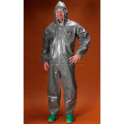 ChemMax3 Coverall, Hood, Elastic Face, Wrists & Ankles, S, 6/Case, Lakeland, C3T130-S