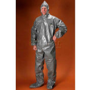 ChemMax3 Coverall, Resp.-Fit Hood, Elastic Face, Wrists, Boots, L, 6/Case, Lakeland, C3T151L