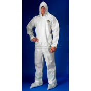 ChemMax2 Coverall, Attached Hood, Boots, Elastic Wrists, 2XL, 12/Case, Lakeland, C44414-2X