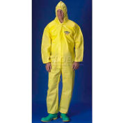 ChemMax1 Coverall, Attached Hood, Elastic Wrists & Ankles, L, 25/Case, Lakeland, C5428L