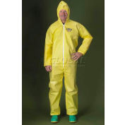ChemMax1 Coverall, Attached Hood, Elastic Wrists & Ankles, L, 25/Case, Lakeland, C55428L
